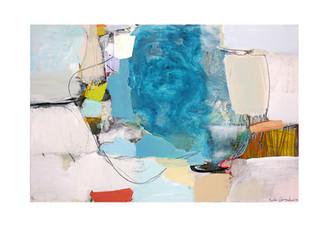 Abstract N78, 100 x 150 cm, acrylic on canvas