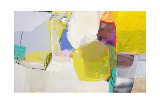 Abstract N43, 90 x 150 cm, acrylic on canvas