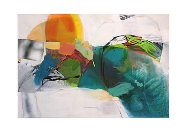 Abstract N37, 90 x 130 cm, acrylic on canvas