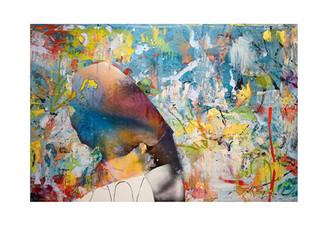 Abstract N97, 100 x 150 cm, acrylic on canvas