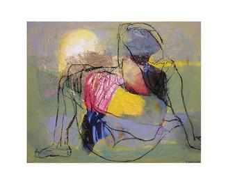 Abstract N19, 100 x 130 cm, acrylic on canvas