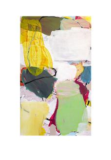 Abstract N89, 150 x 90 cm, acrylic on canvas