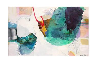 Abstract N74, 90 x 145 cm, acrylic on canvas