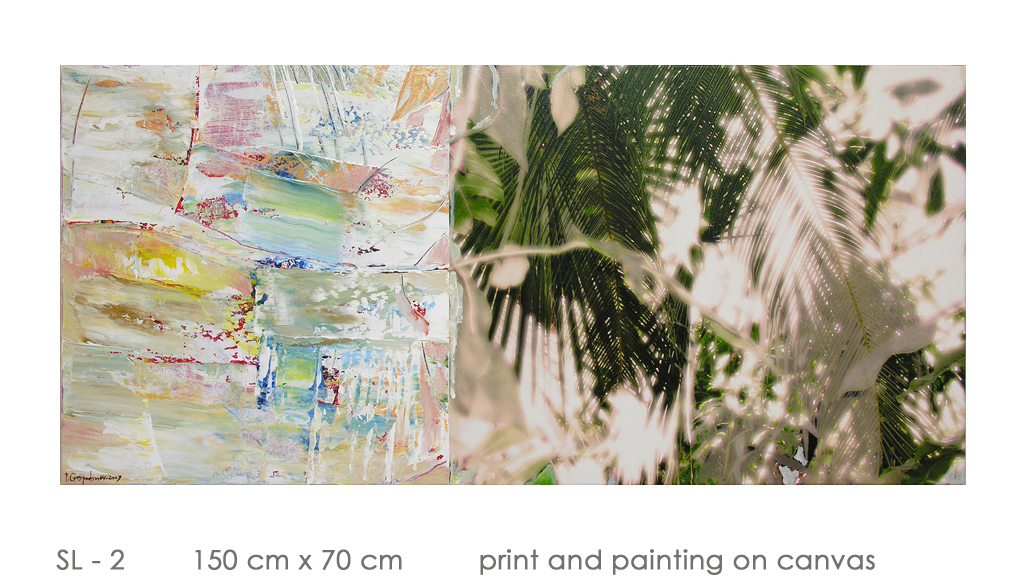 SL - 2 150 cm x 70 cm  print and painting on canvas