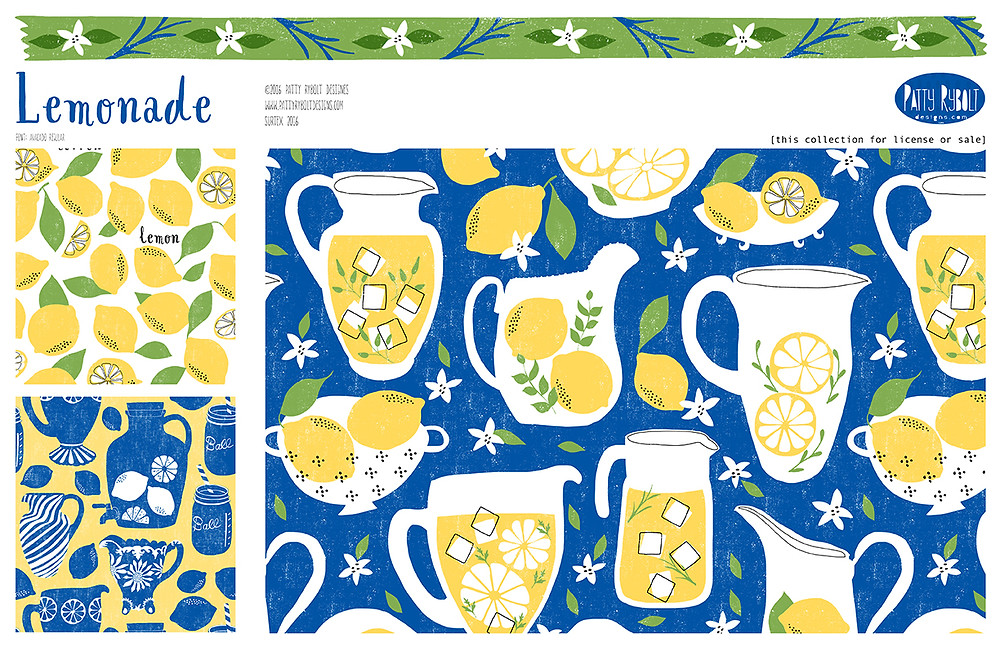 Old-time lemonade collection ©2016 Patty Rybolt Designs