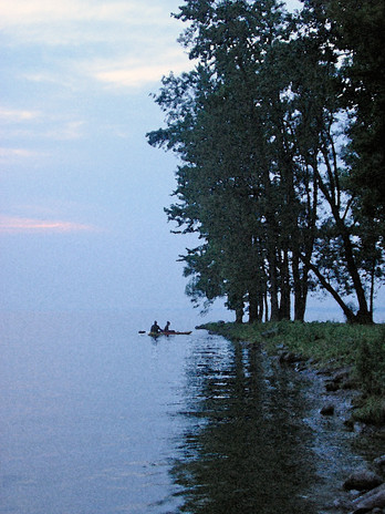 Kayaks at Point