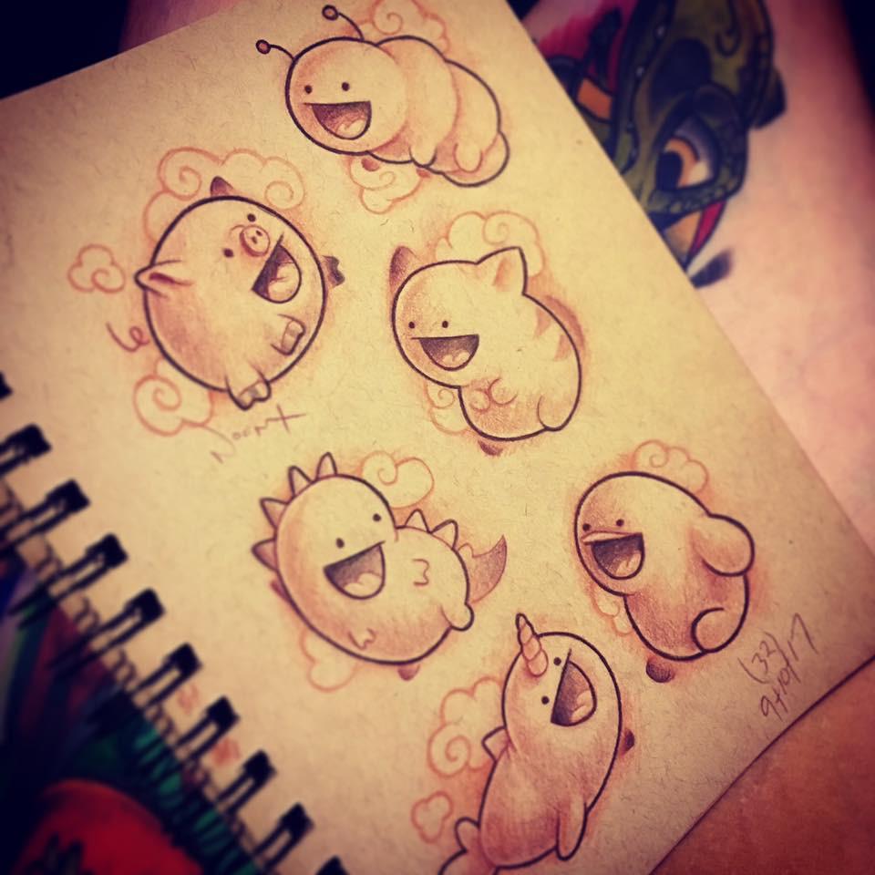 Little Tsum Tsum styled animals