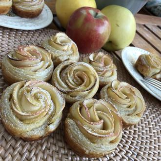 Salted Caramel Rose Apple Tarts