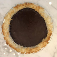 Chocolate Ganache with Coconut Crust Pie