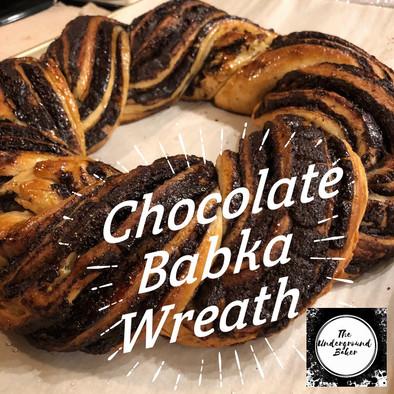Chocolate Babka Wreath
