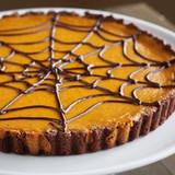 Spiderweb Pumpkin Chocolate Tart