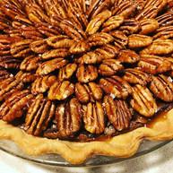 Chocolate Pecan Pie with Caramel Sea Salt