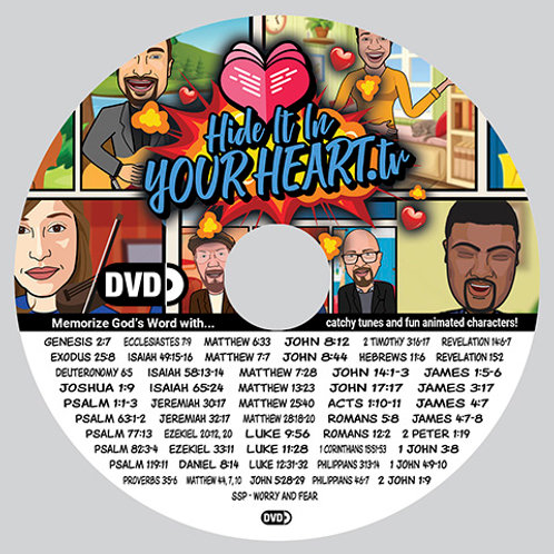 Hide It In Your Heart Animated Scripture Songs - DVD