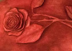 紅色房間的立體壁畫