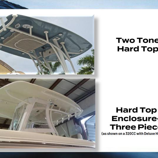 Two Tone Hard Top Light Colors & 3pc Enc