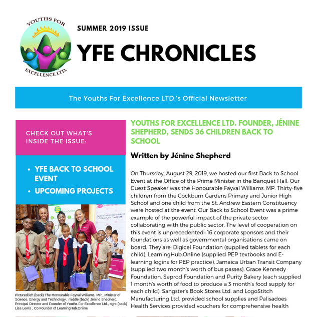 YFE Chronicles-Summer 2019 Issue