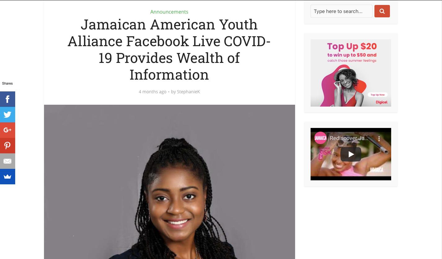 Jamaicans.com- JAYA COVID-19 Forum
