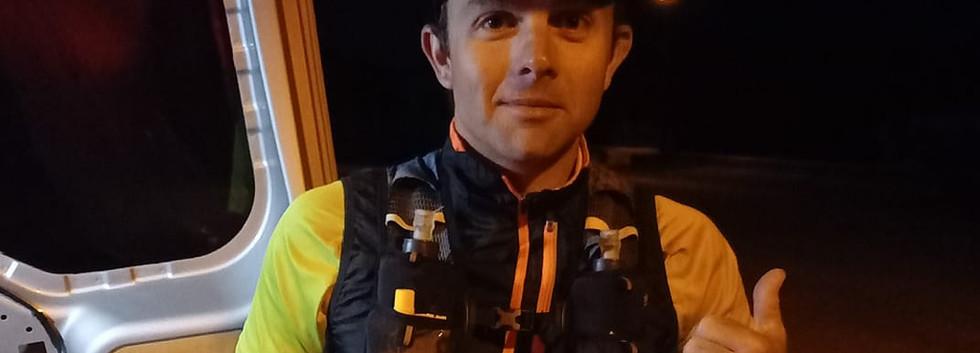 Bertrand avant son 50 km