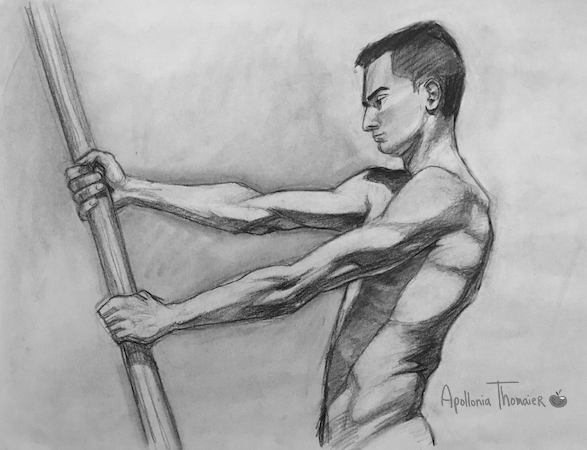 30 minute pose Medium: charcoal