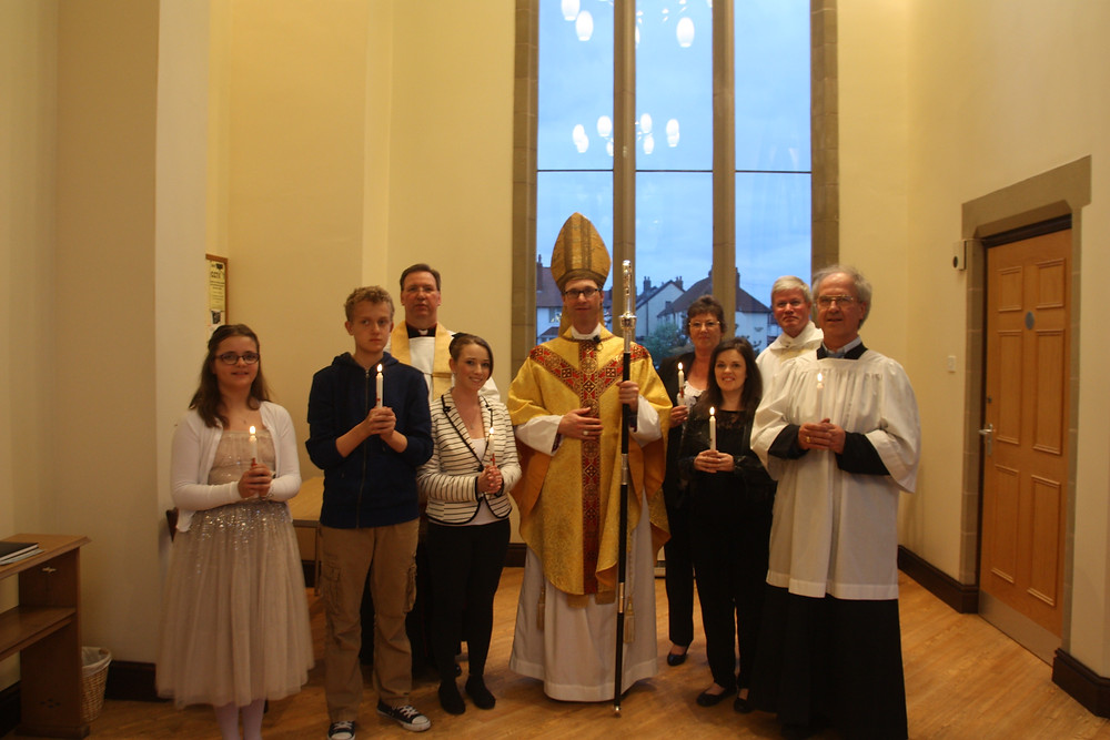 Bishop Philip and the newly Confirmed