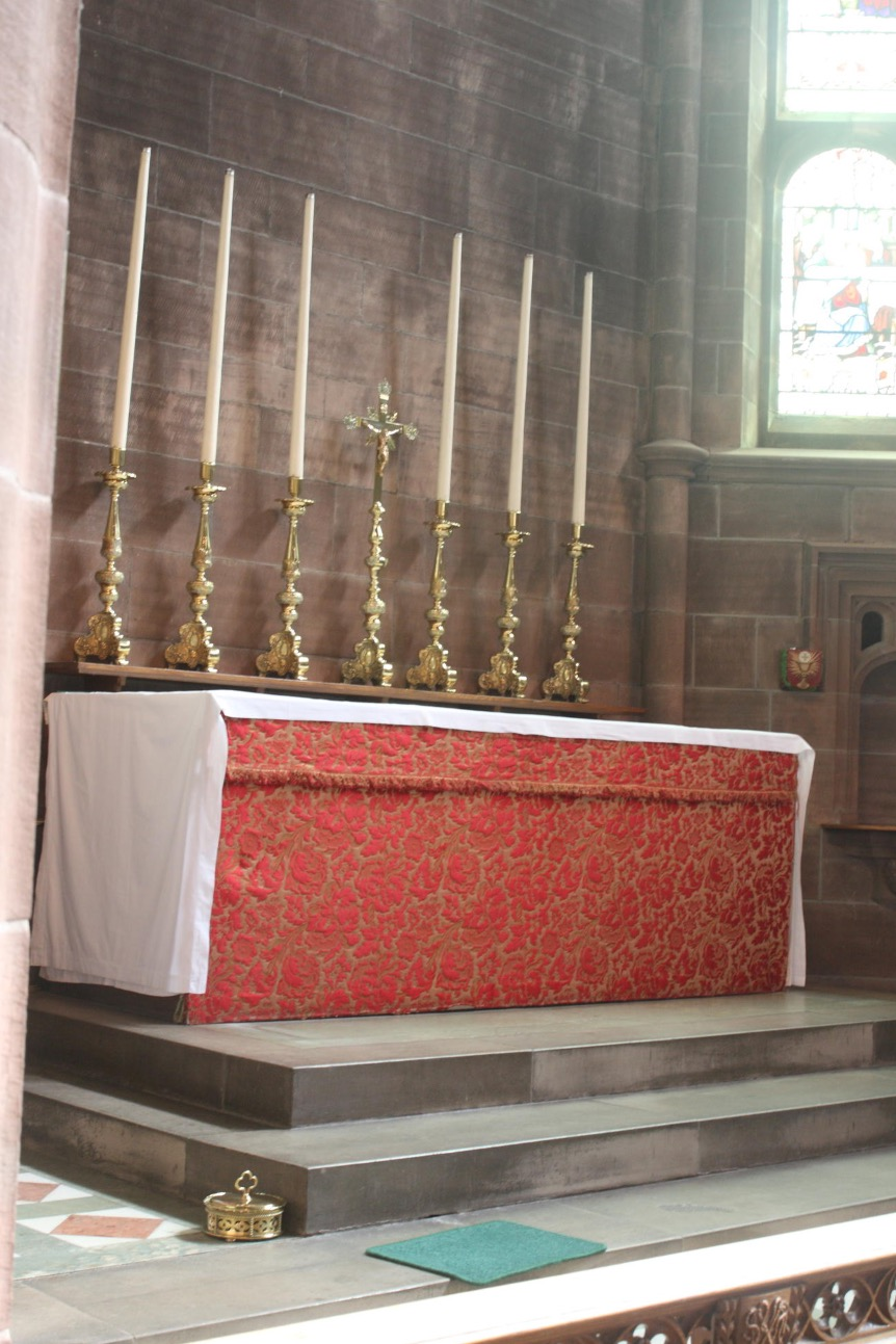 High Altar and red frontal
