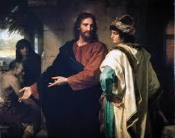 Two men talking in medievail dress