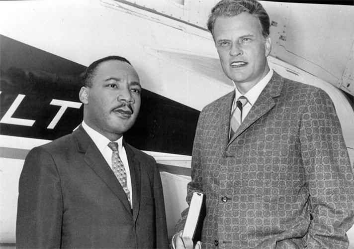 Billy Graham with Martin Luther King