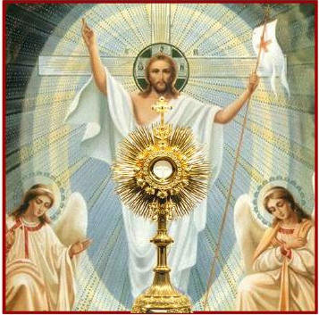 Resurrected Christ and Blessed Sacrament