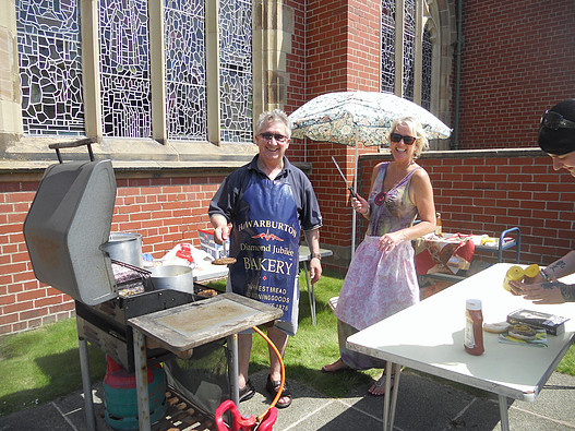 Barbecue at the Summer Fayre