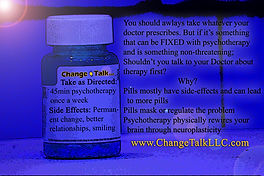 Empty pill bottle