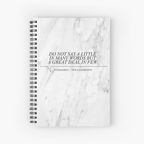 New Classicists spiral notebook - Pythagoras
