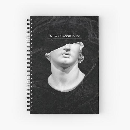 New Classicists spiral notebook -NC logo