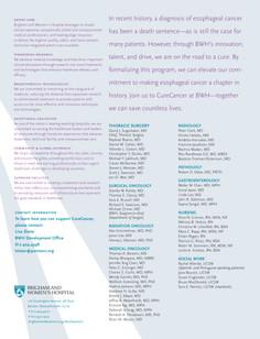 Esophageal cancer program (Back)