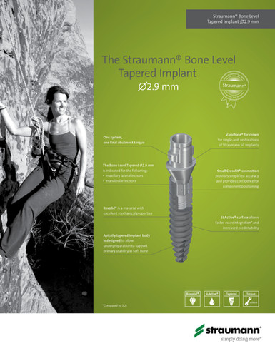 Straumann Small Diameter Implant Flyer