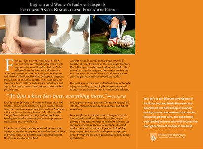 Foot and Ankle Research and Education Fund (Inside Spread)