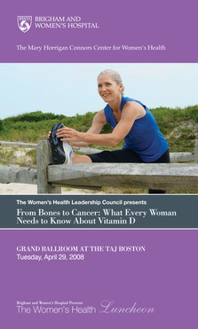 Women's Health Luncheon Program (Front)