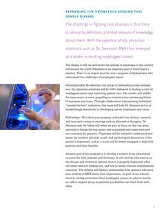 Esophageal cancer program (Inside)