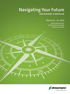 2016 Straumann Resident Symposium Invitation (Cover)