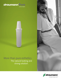 Straumann PURE Ceramic Implant Product Brochure (Cover)