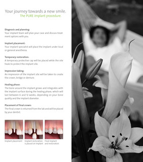Straumann PURE Ceramic Implant Patient Brochure (Inside Spread)