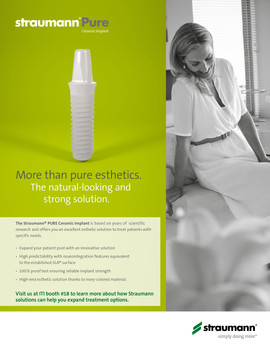 Straumann PURE Ceramic Implant Product Ad