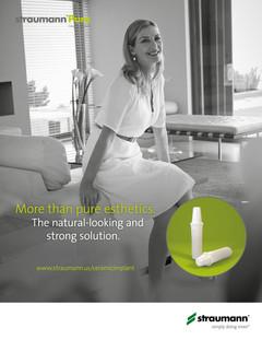 Straumann PURE Ceramic Implant Product Ad