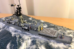 FF-1082 Port stern with helipad detail