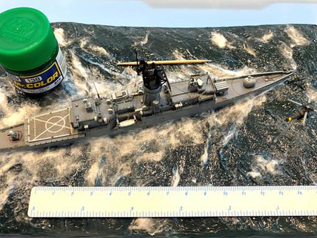 USS Elmer Montgomery in heavy seas
