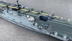 detail flight deck and gun starboard