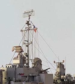 USS Gearing rigging match