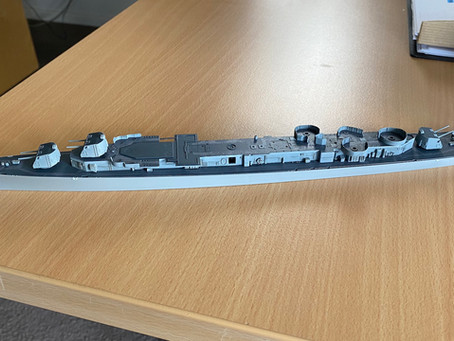Progress report: USS Gearing: taking shape