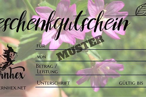 Gutschein Blume