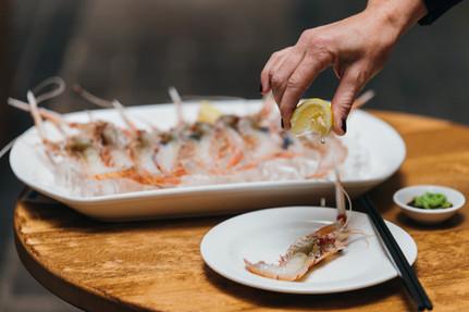 Scampi Sashimi Style