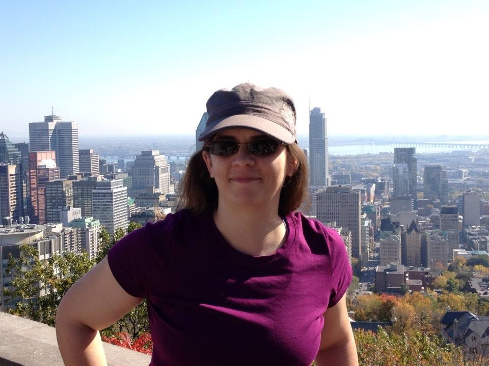 Author Pat - standing on top of the world